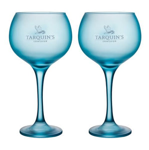 x2 Tarquin's Goblet-style Blue Gin Glass