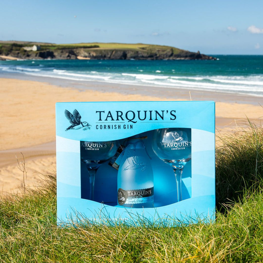 Tarquin's Cornish Dry Gin With Goblet Glasses Gift Set