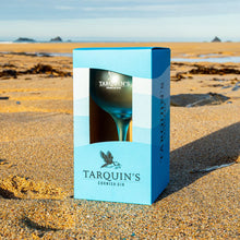 Load image into Gallery viewer, Single Tarquin's Blue Goblet-style Gin Glass with Gift Box