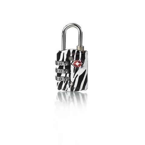Leo by Heys - TSA Fashion Combo Lock - Zebra