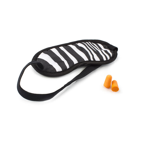 Leo by Heys - Eye Shade & Ear Plugs Set - Zebra