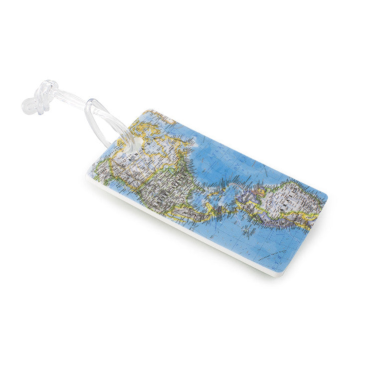 Leo by Heys - 2pc Fashion Luggage Tags - World Map