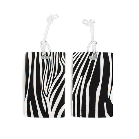 Leo by Heys - 2pc Fashion Luggage Tags - Zebra