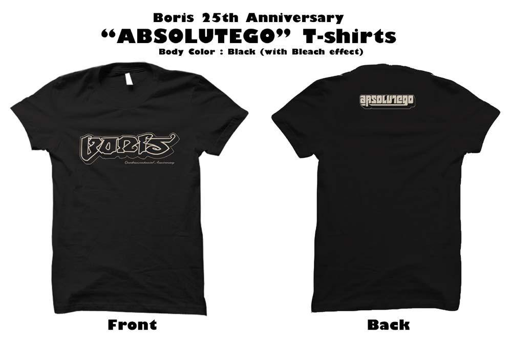 Boris / Absolutego T-shirt (Black/Bleach) Sのみ