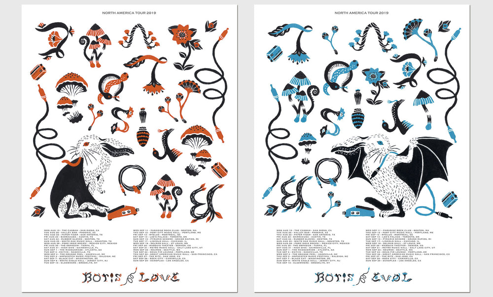 Boris / LoVE & EVoL Tour Poster
