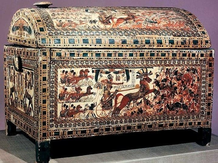 Ancient Egyptian treasure chest