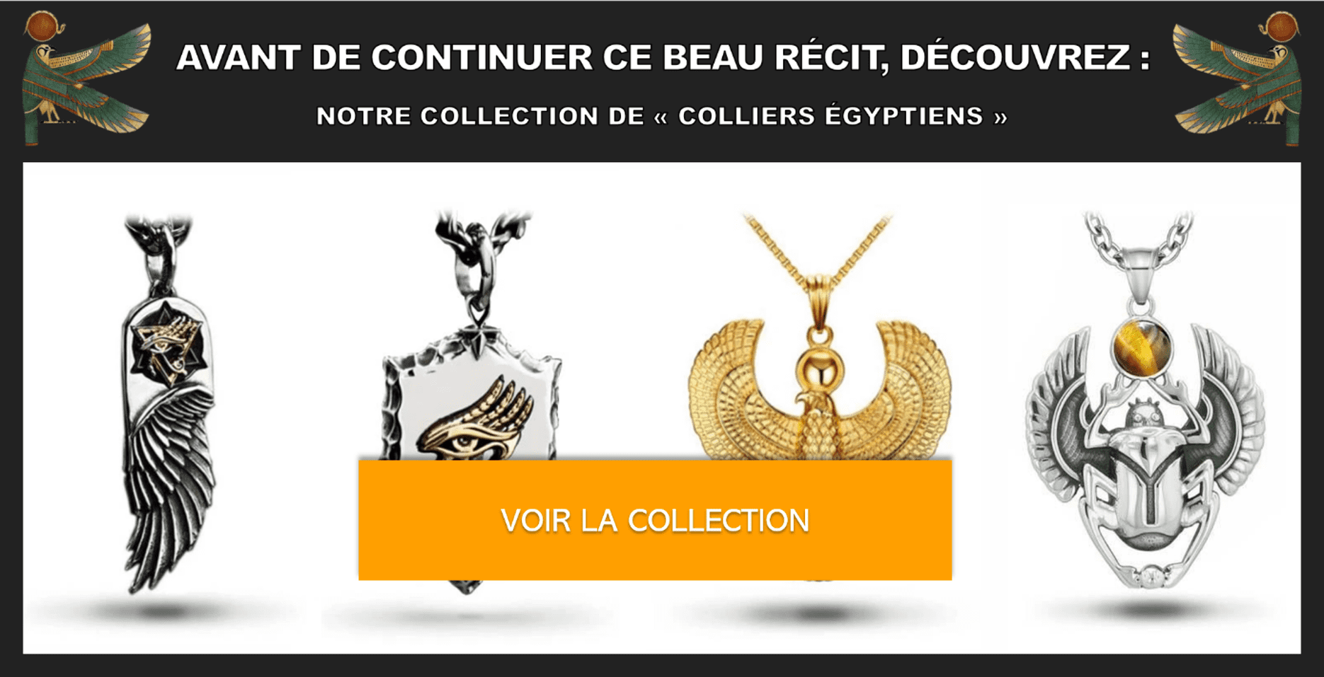 Colliers égyptiens de l'Égypte antique