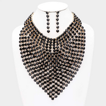 Load image into Gallery viewer, Rhinestone Statement Bib Necklace Set  **Delayed Shipping Due to COVID-19*8