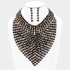Rhinestone Statement Bib Necklace Set  **Delayed Shipping Due to COVID-19*8