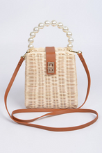 Load image into Gallery viewer, Straw Beaded Handle Bag  **Available for Next Day Shipping**