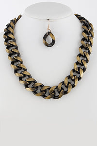 Two Tone Chain Necklace Set **Available for Next Day Shipping**