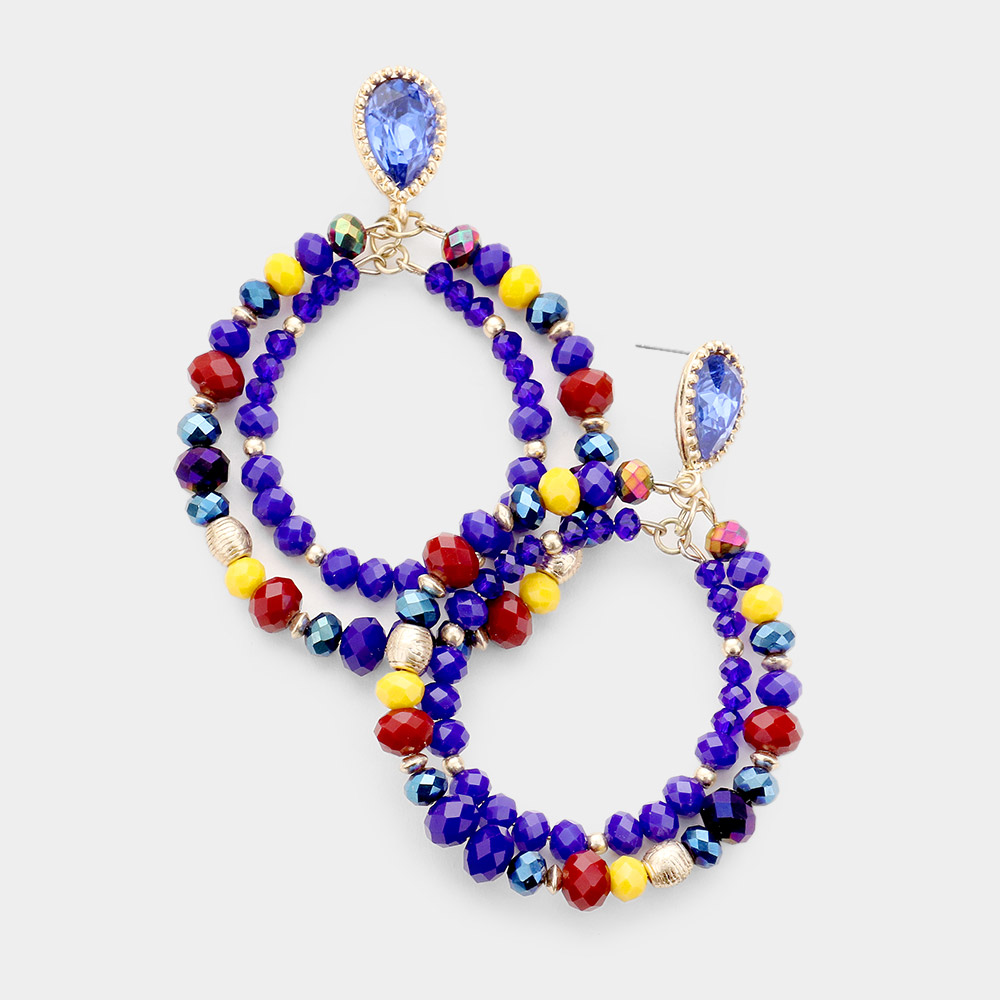 Colorful Bead Dangle Earring  **Available for Next Day Shipping**
