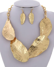 Load image into Gallery viewer, Abstract Leaf Necklace Set ** Available for Next Day Shipping**