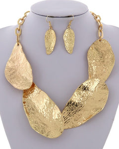 Abstract Leaf Necklace Set ** Available for Next Day Shipping**