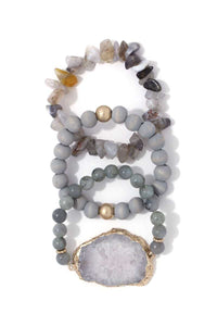 Semi Precious Stretch Bracelet  **Delayed Shipping Due to COVID-19**