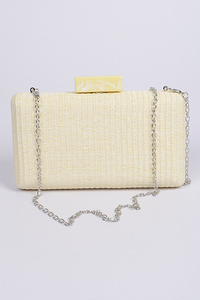 Straw Chain Clutch **Pink Available for Next Day Shipping**