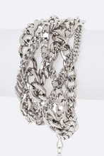 Load image into Gallery viewer, Braided Multi Chain Bracelet  **Available for Next Day Shipping**