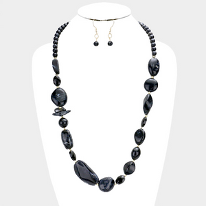 Multi Sized. Abstract Bead Necklace Set **Available for Next Day Shipping**