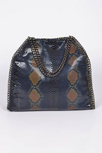 Load image into Gallery viewer, Chain Trim Snake Print Handbag **Brown Available for Next Day Shipping**