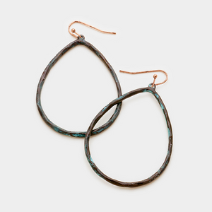 Hammered Hoop Earring **Available for Next Day Shipping**