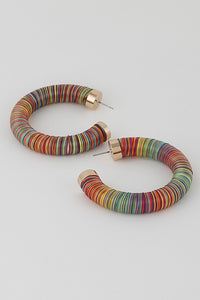 Rainbow Thread Hoop Earring **Available for Next Day Shipping**