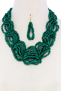 Seed Bead Layered Necklace Set  **Available for Next Day Shipping**
