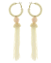 Load image into Gallery viewer, Long Seed Bead Tassel Earring  **Available for Next Day Shipping**