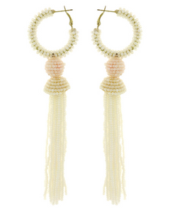 Long Seed Bead Tassel Earring  **Available for Next Day Shipping**