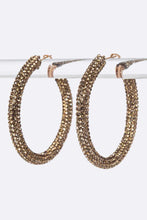 Load image into Gallery viewer, Pave Style Hoop Earring