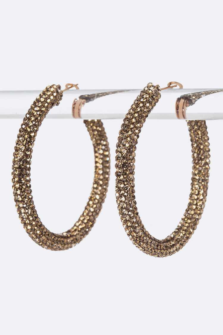 Pave Style Hoop Earring