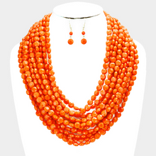 Load image into Gallery viewer, Multi Strand Faceted Necklace Set  **Most Available for Next Day Shipping**