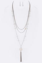 Load image into Gallery viewer, Pearl Accent Chain Necklace Set