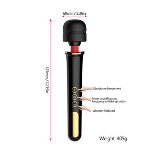 Monada® Luxury 10 Mode Rechargeable Massage Wand Vibrator