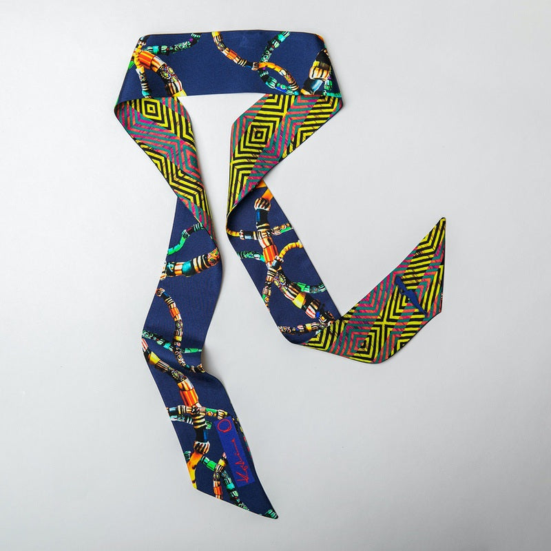 Ashinor Beaded Skinny Scarf