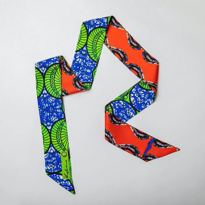 Blue and Green Ankara Print Nectie