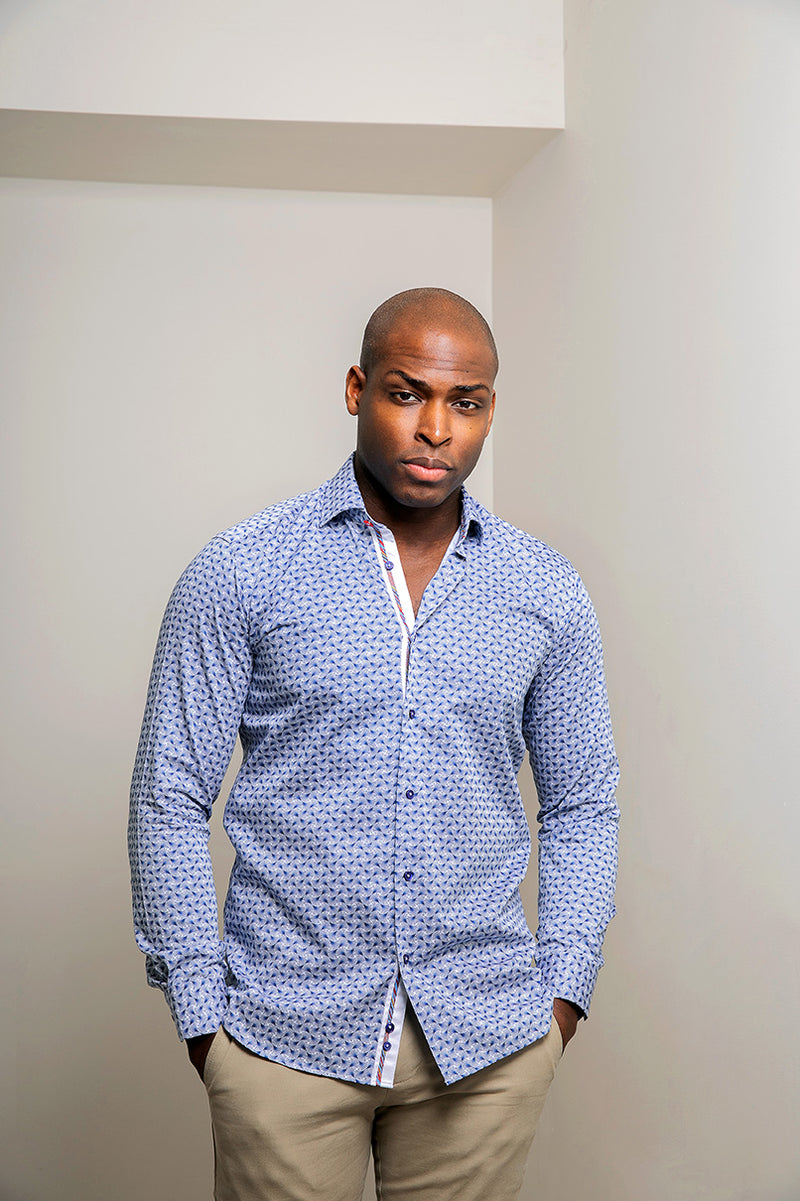 African Blue Shirt for Men