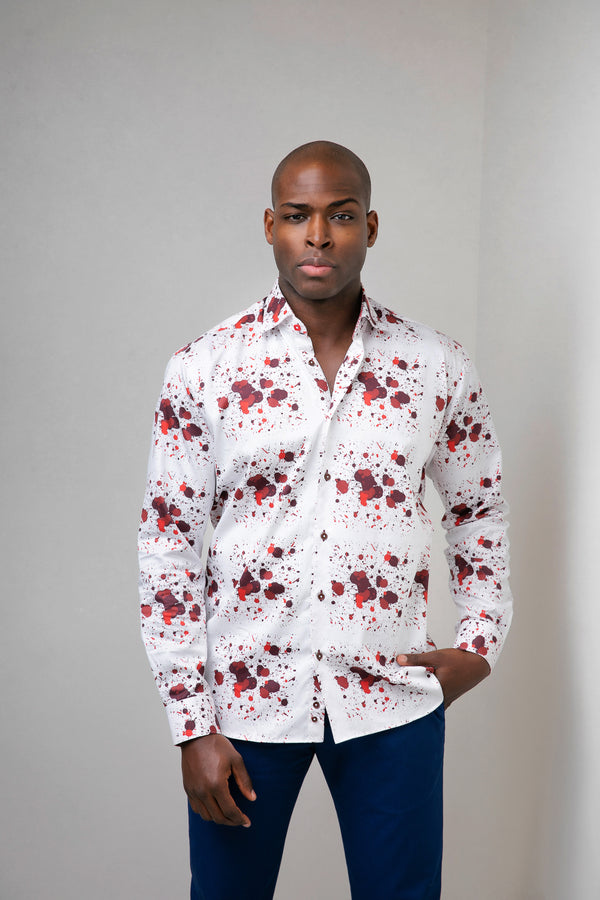 Splash Print Cotton Shirt