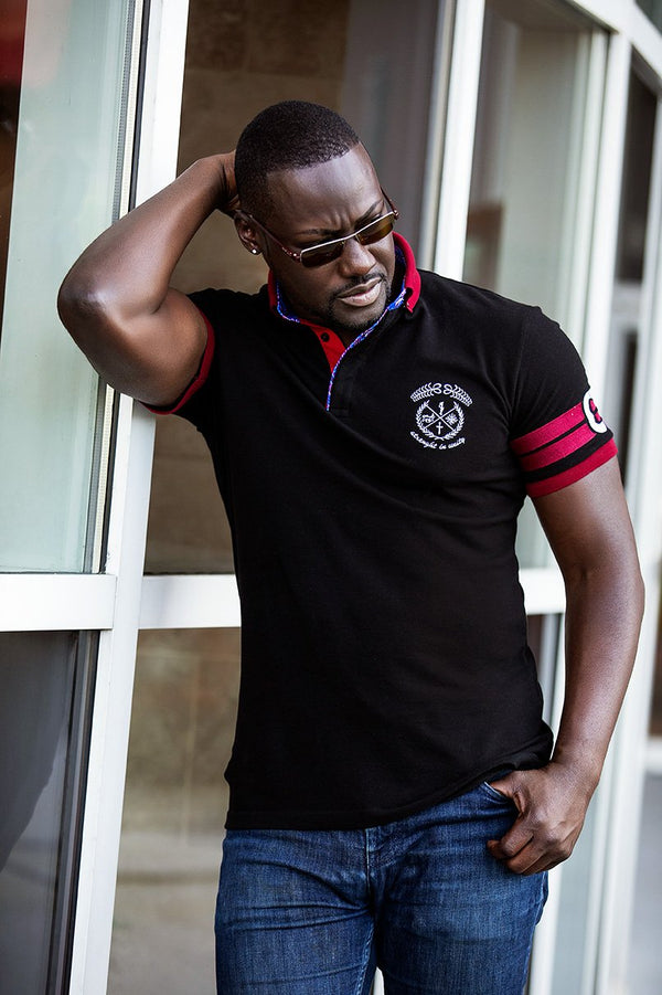 Captain Polo Black T-shirt