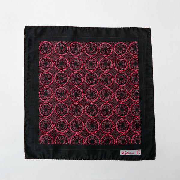 Black and Pink Ankara Print Circles Pocket Squares