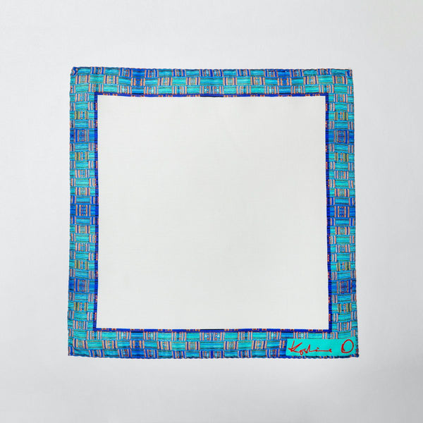 Teal Kente Pocket Squares