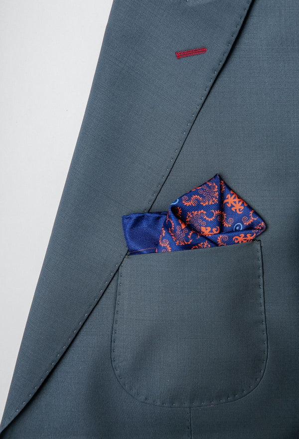 Burnt Orange Siamese Pocket Squares