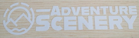 Adventure Scenery 20cm Sticker White
