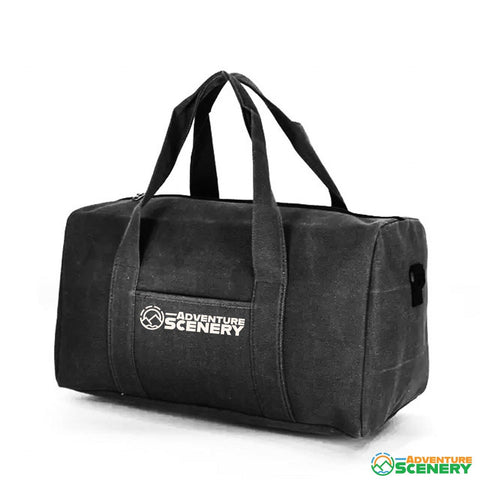 Large Canvas Duffle Bag - Adventure Scenery