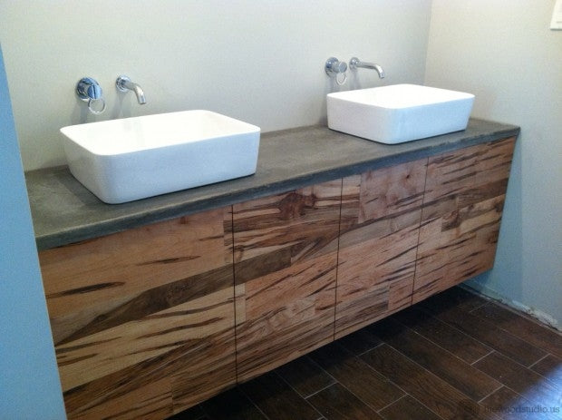 Floating Maple Vanity from thewoodstudio.us