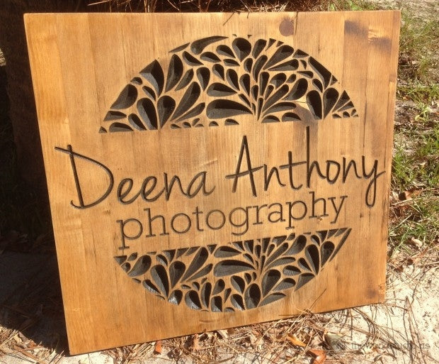 Deena Anthony Carved Sign from thewoodstudio.us