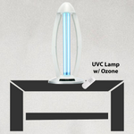 Ultraviolet Lamp w/ Remote, UVC Light For Sanitizing & Disinfecting (white WITH OZONE)