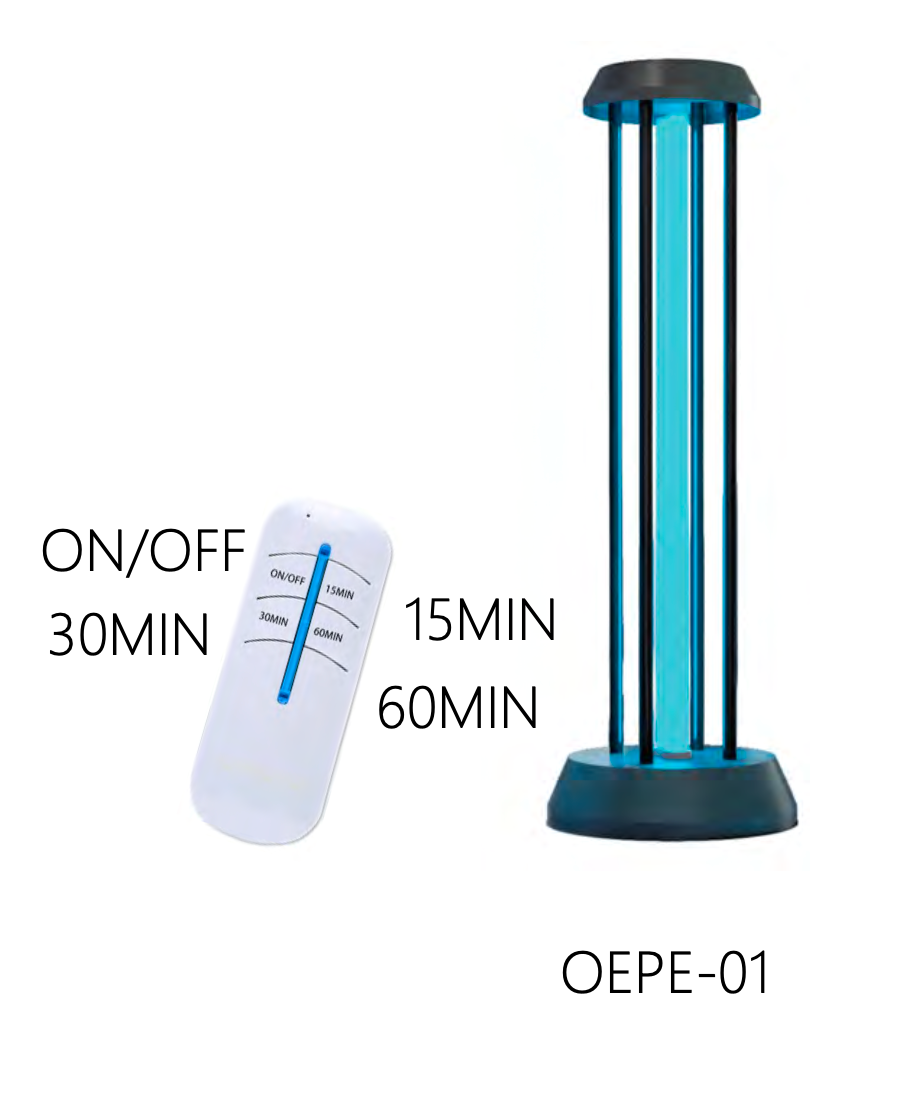NEWEST MODEL: UVC Lamp w/ Remote, Light For Sterilization & Disinfection 38W