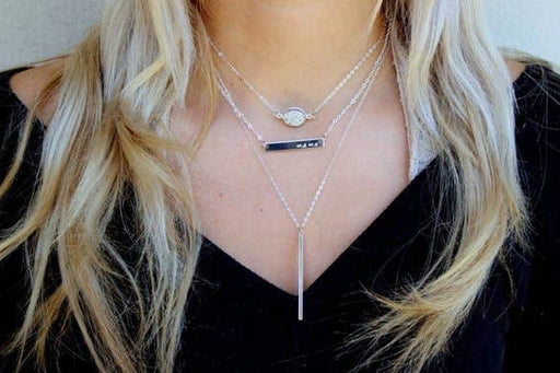 Skinny Bar Layering Necklace-Jewelry & Watches-humblys.com