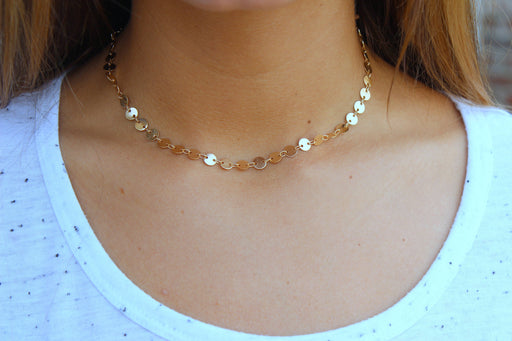 Coin Chain Choker Jewelry-Jewelry & Watches-humblys.com