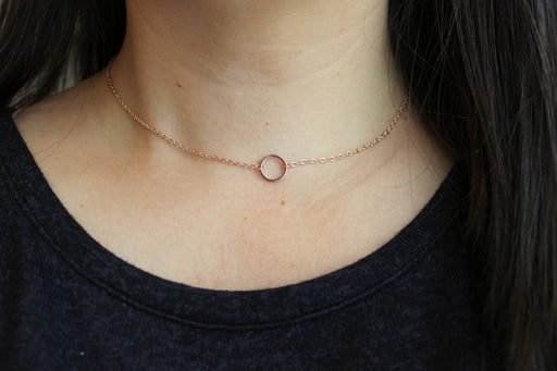 Rose Gold Circle Choker Jewelry-Jewelry & Watches-humblys.com